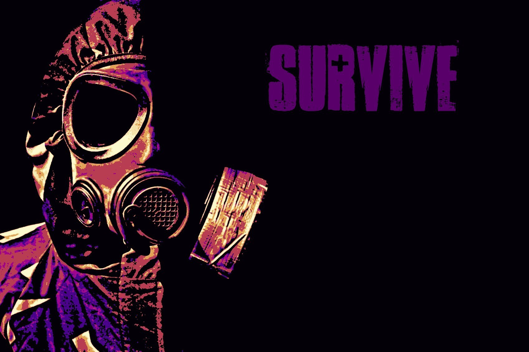 gas masks angry survive HD Wallpaper
