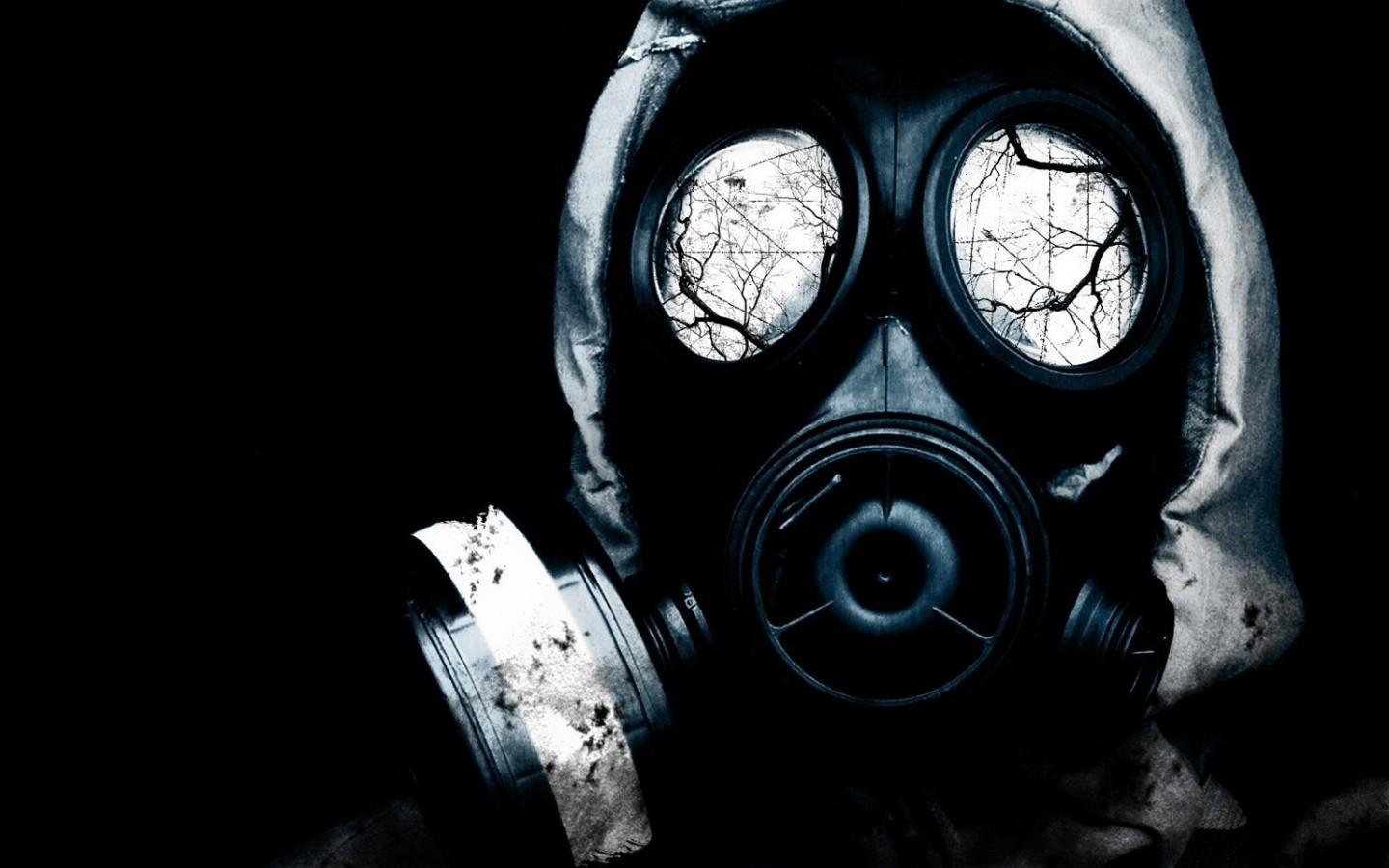 gas masks artwork HD Wallpaper