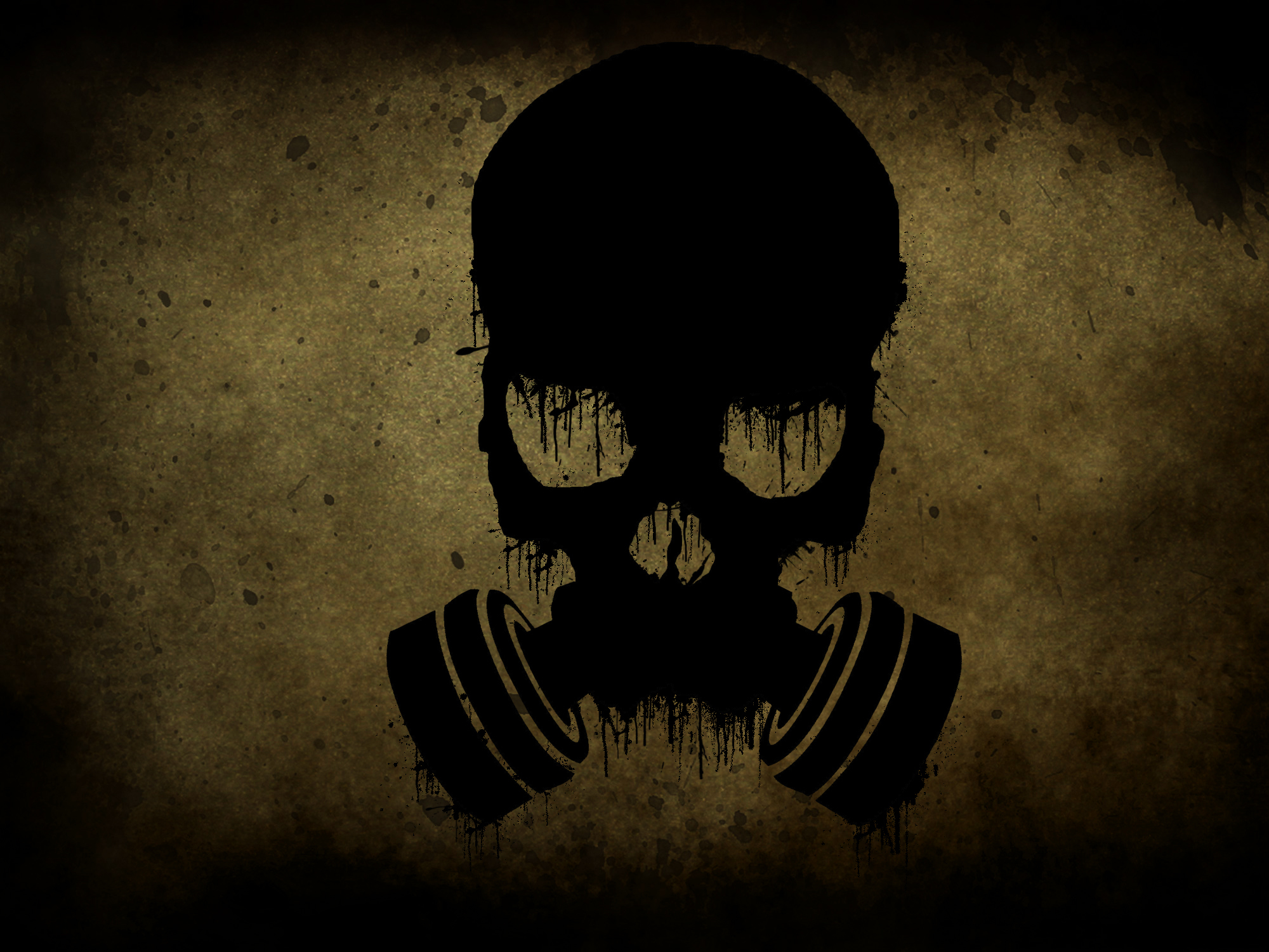 gas masks dark skulls HD Wallpaper