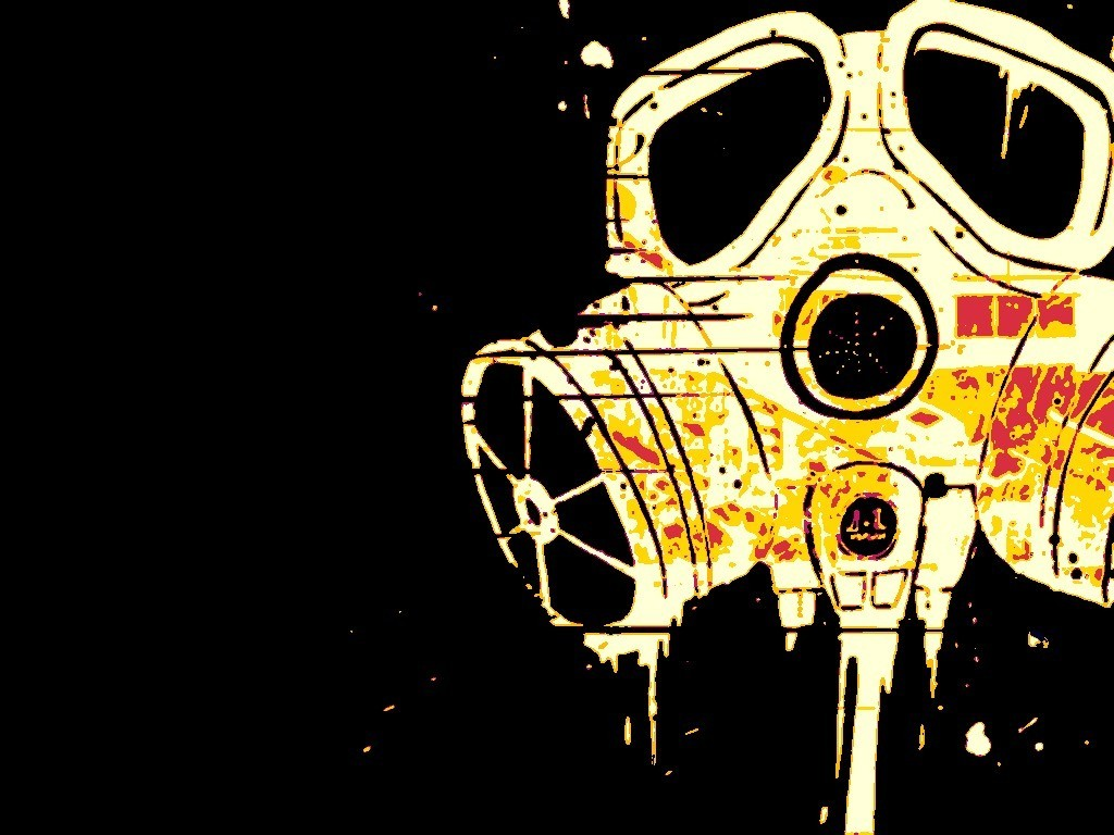 gas masks spray paint HD Wallpaper