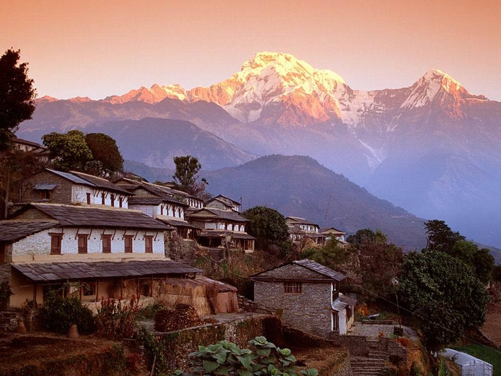 ghandrung village and annapurna HD Wallpaper
