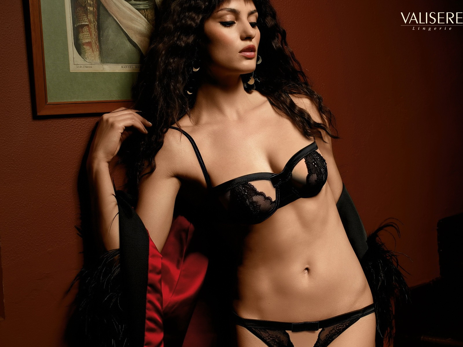 girl model lingerie bra Sexy Catrinel Menghia HD Wallpaper