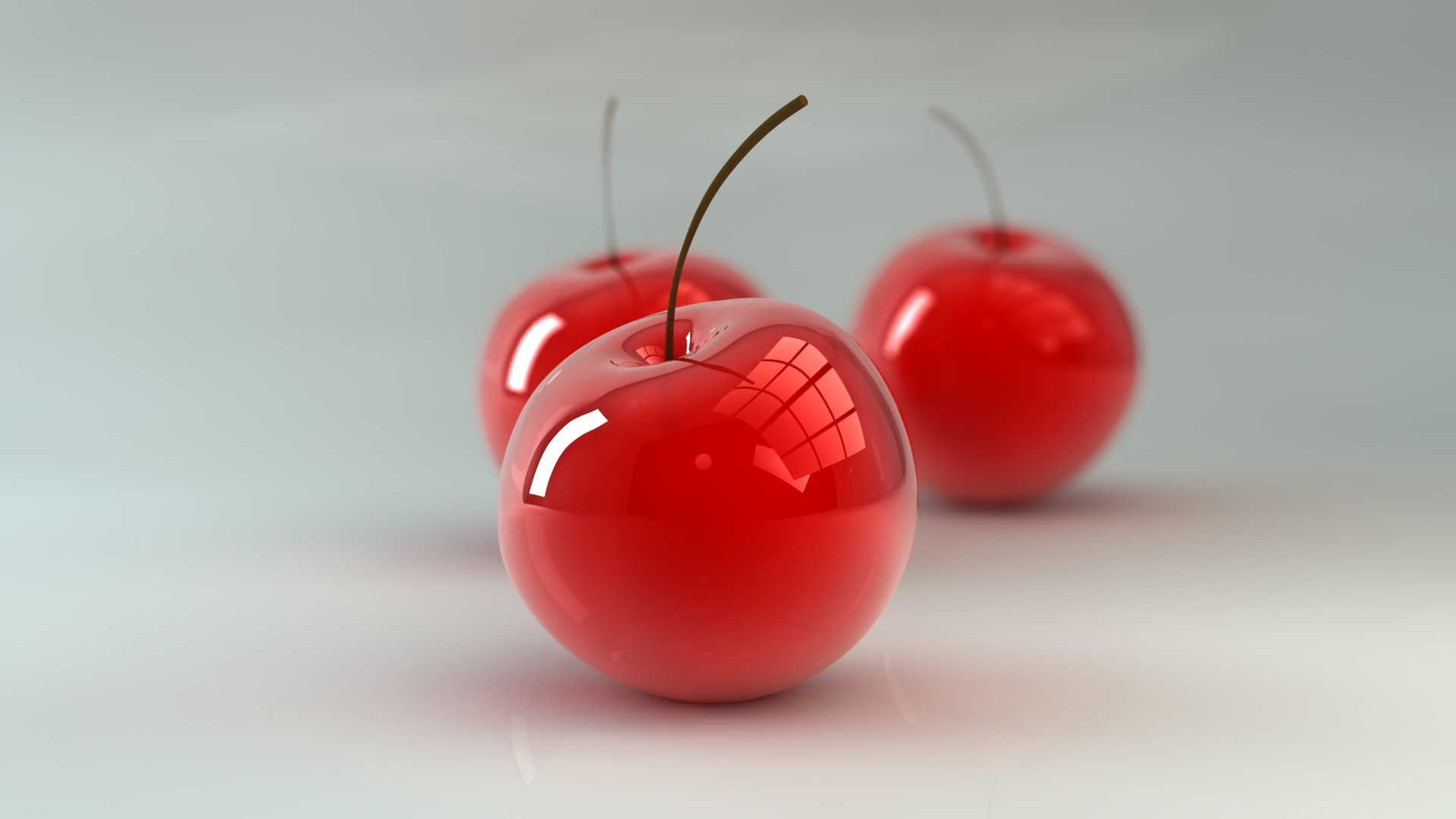 glass cherries glass art HD Wallpaper