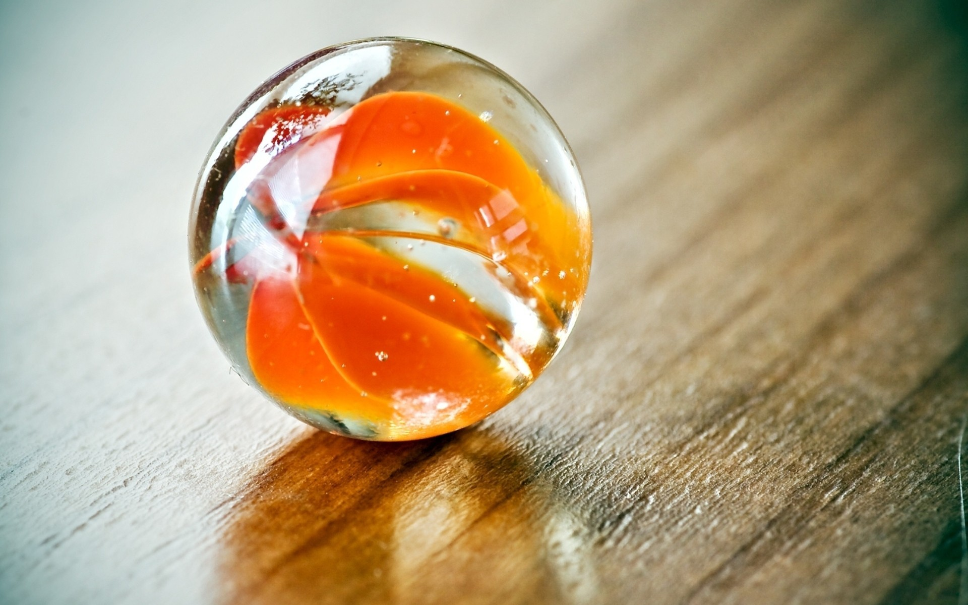 glass macro spheres depth HD Wallpaper