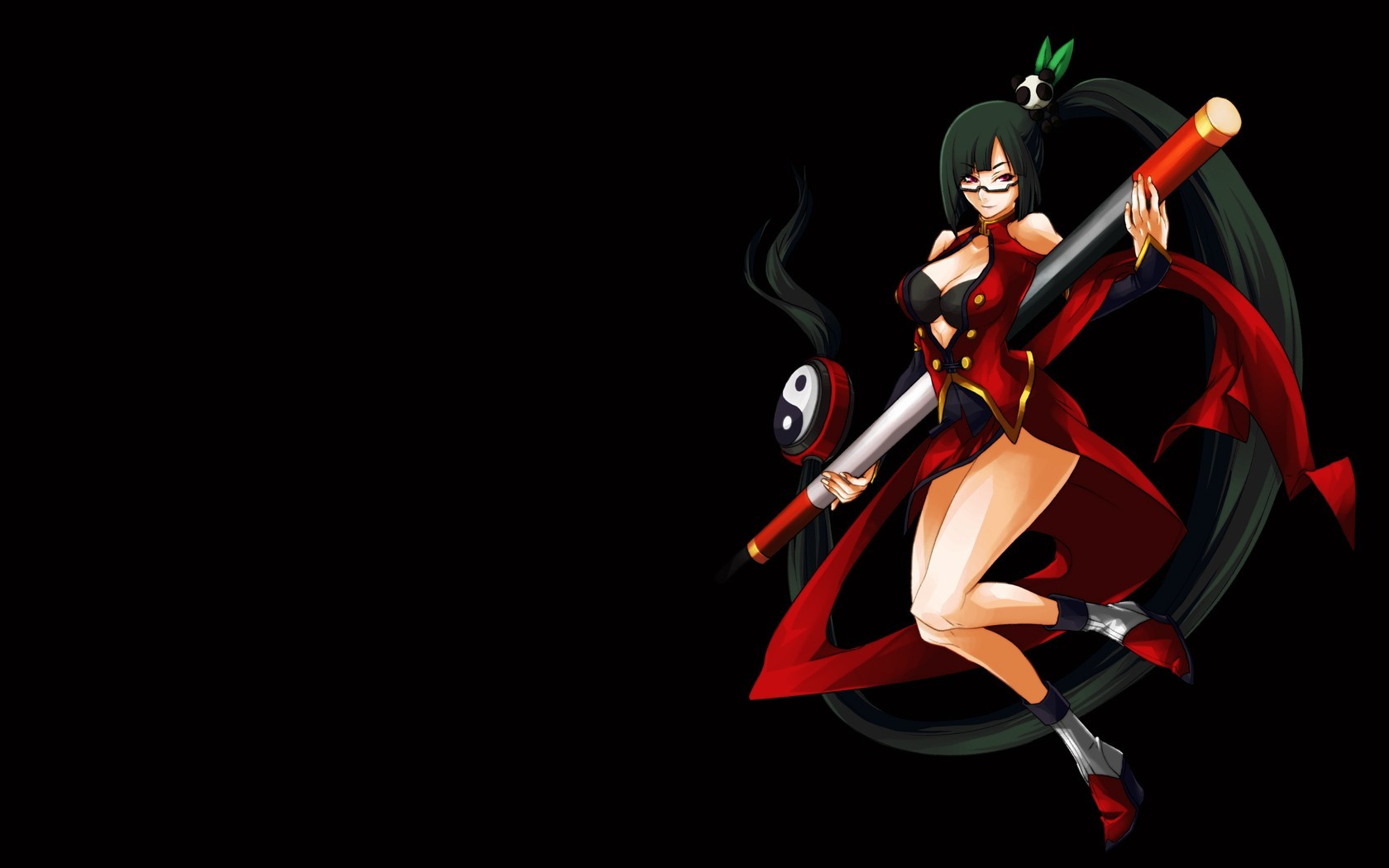 glasses red eyes blazblue HD Wallpaper