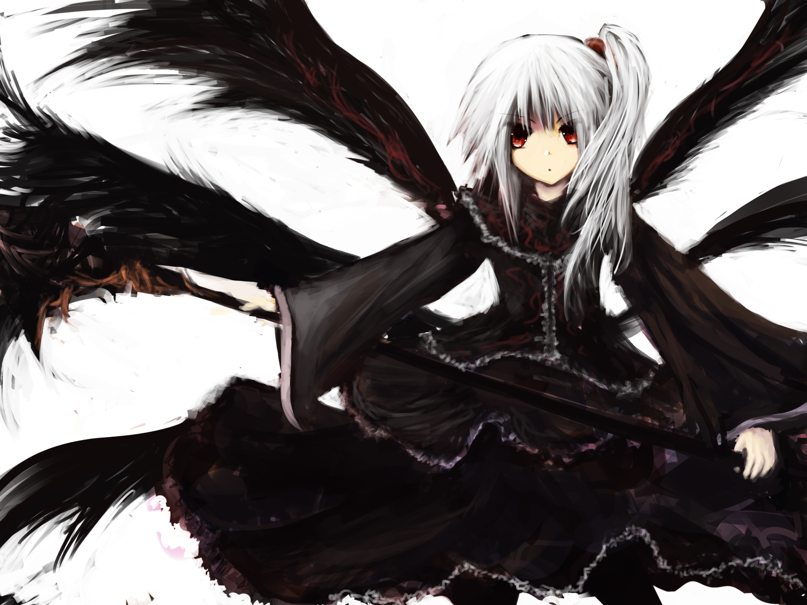goddess Shinki touhou black HD Wallpaper