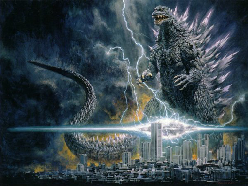 Godzilla Movie light City HD Wallpaper