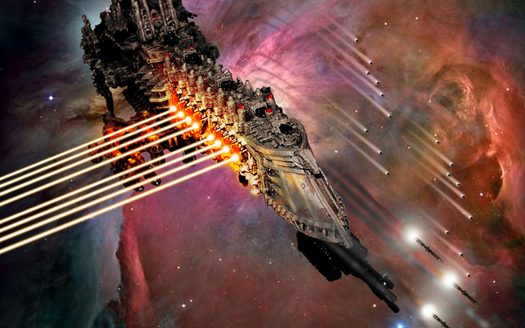 Gothic Space Battle warhammer HD Wallpaper