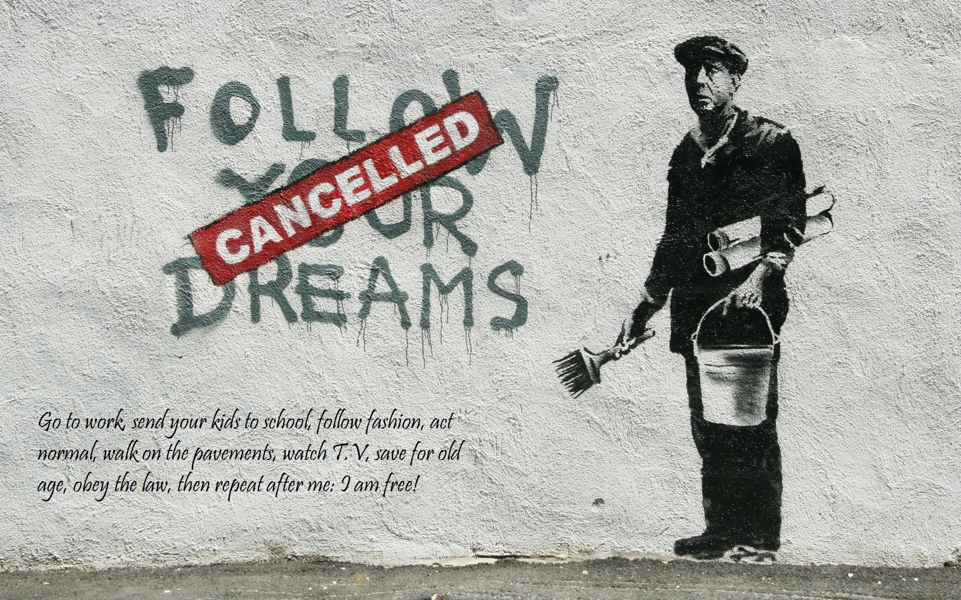 graffiti banksy street art HD Wallpaper