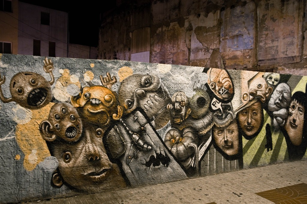 graffiti faces HD Wallpaper