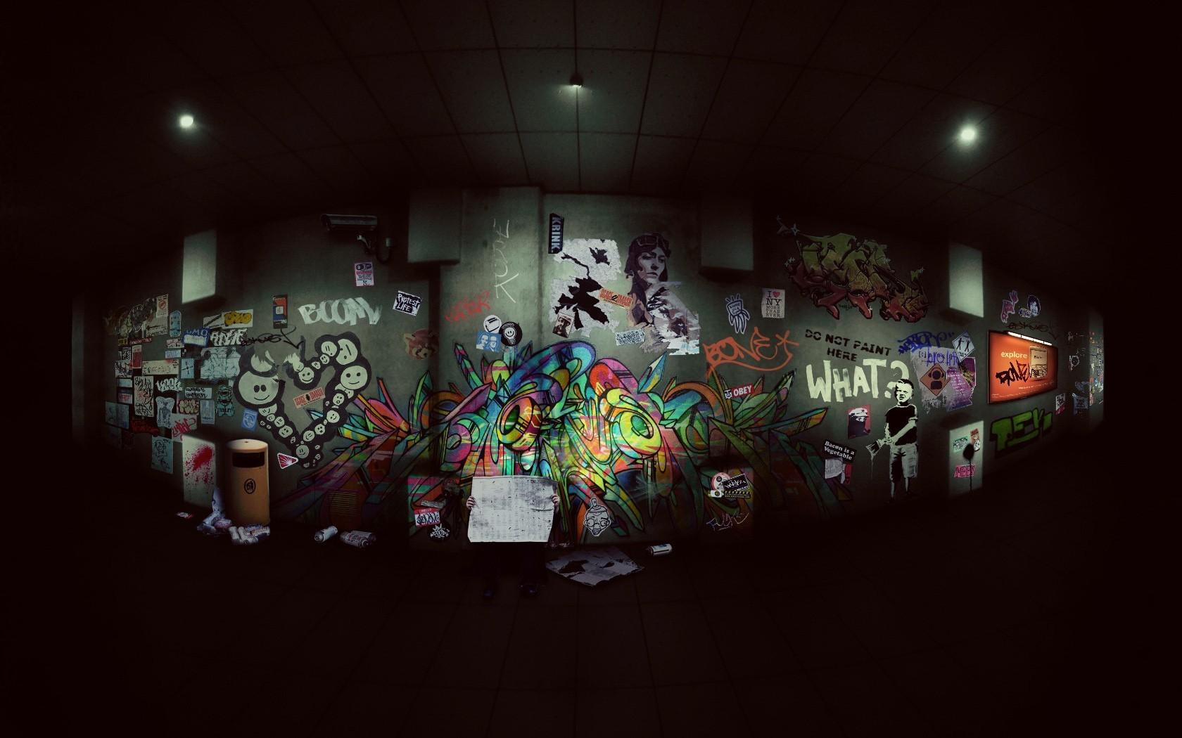 graffiti street art HD Wallpaper