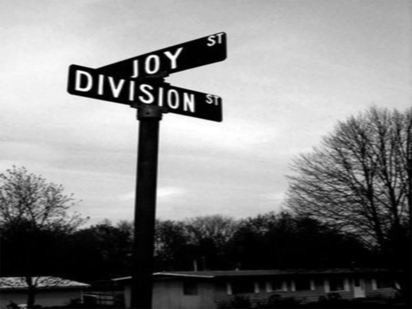 grayscale joy division street HD Wallpaper