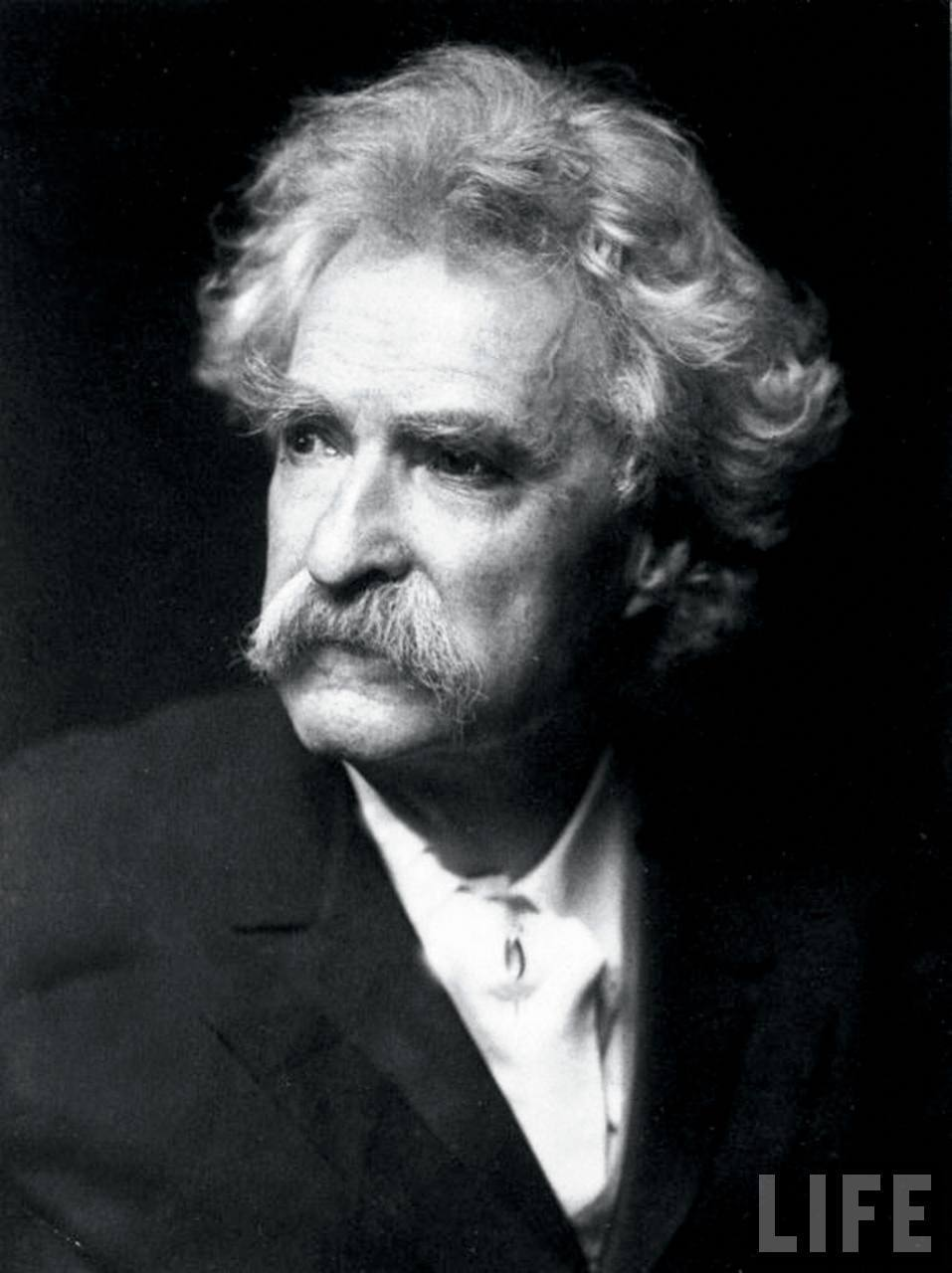 grayscale Mark twain monochrome