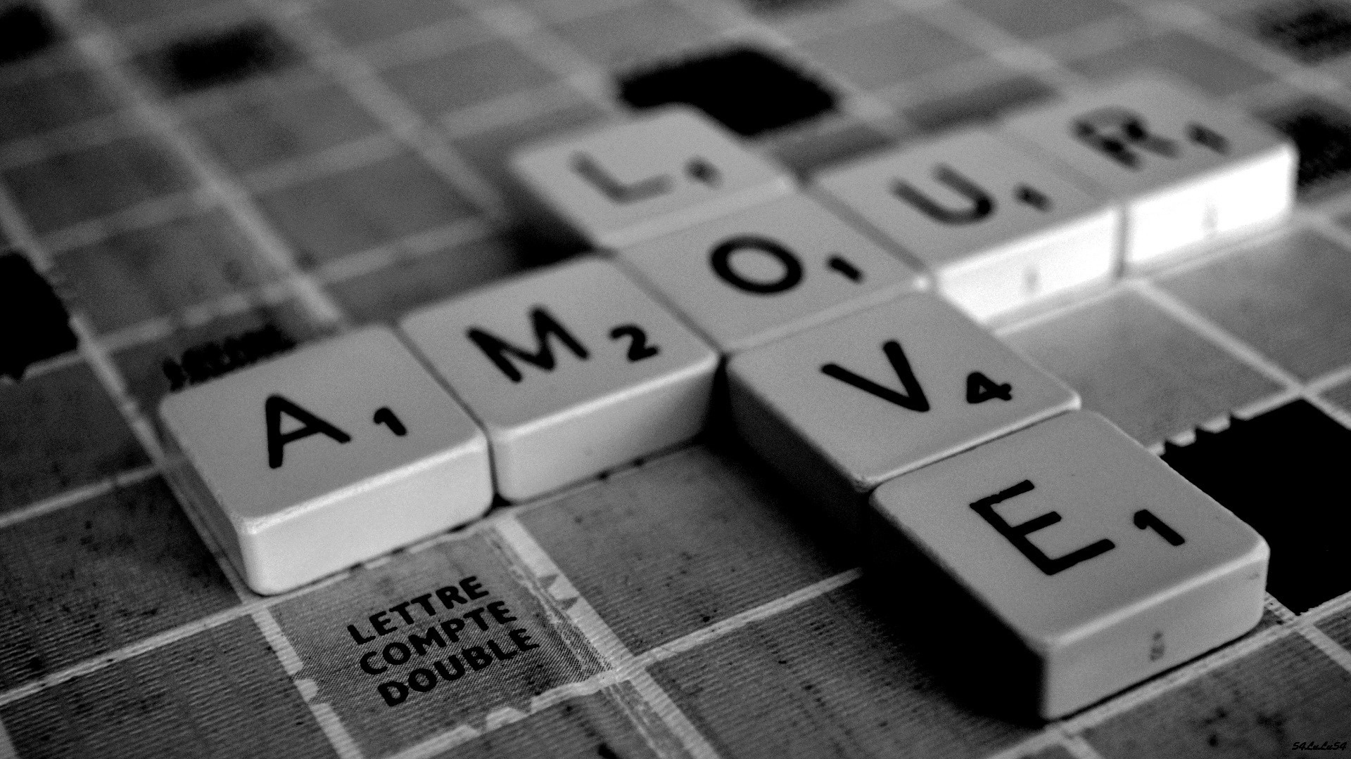 grayscale scrabble HD Wallpaper