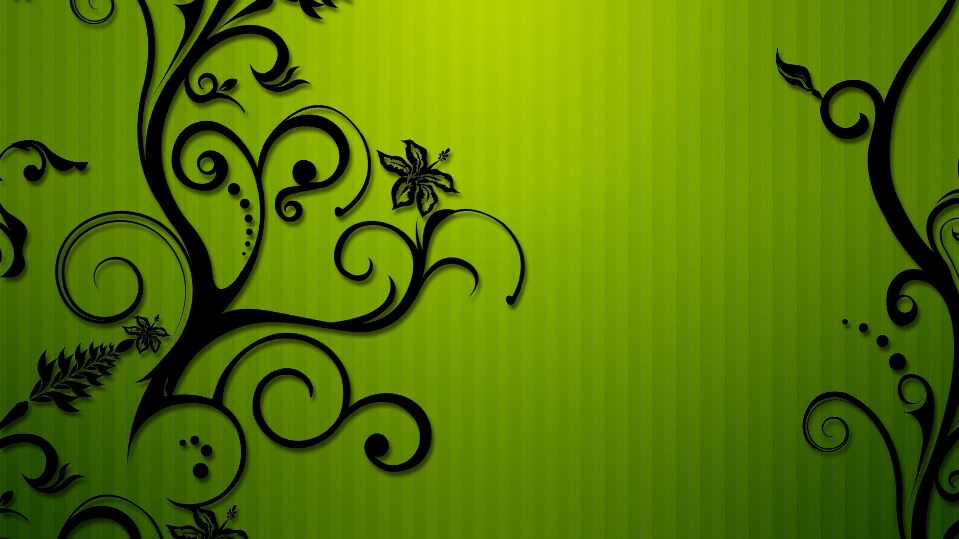 Green abstract floral flourish HD Wallpaper