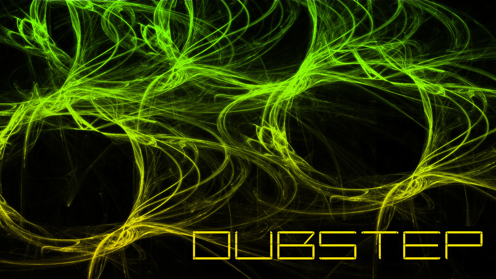 green abstract text fractals dubstep
