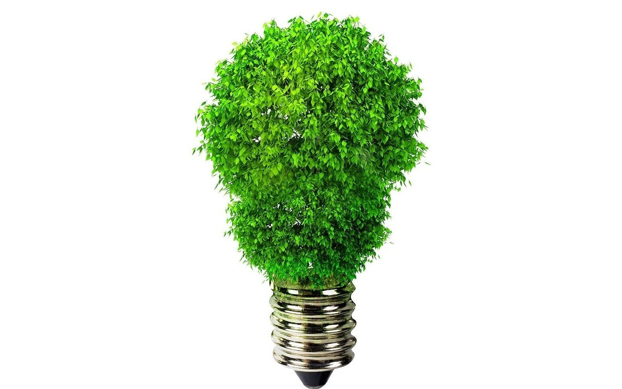 Green energy bulbs 3d HD Wallpaper