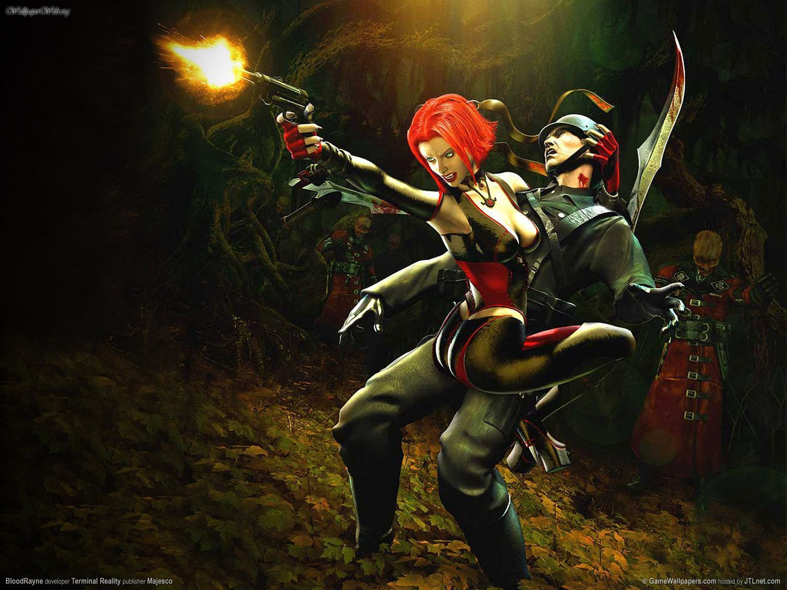 green eyes BloodRayne HD Wallpaper