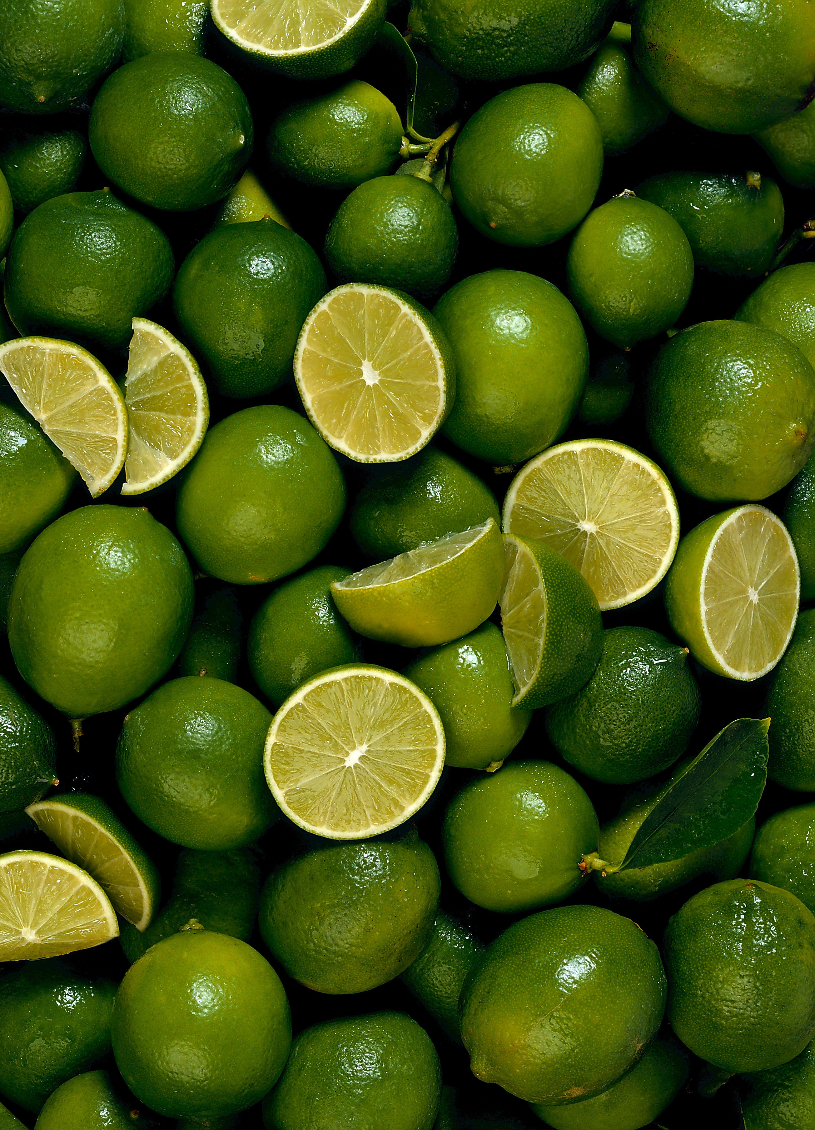 Green fruits food limes HD Wallpaper