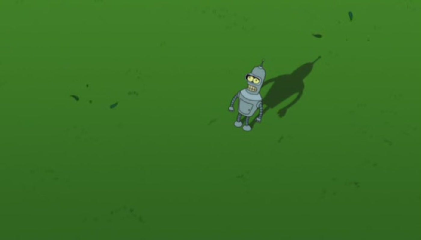 Green Futurama Bender HD Wallpaper