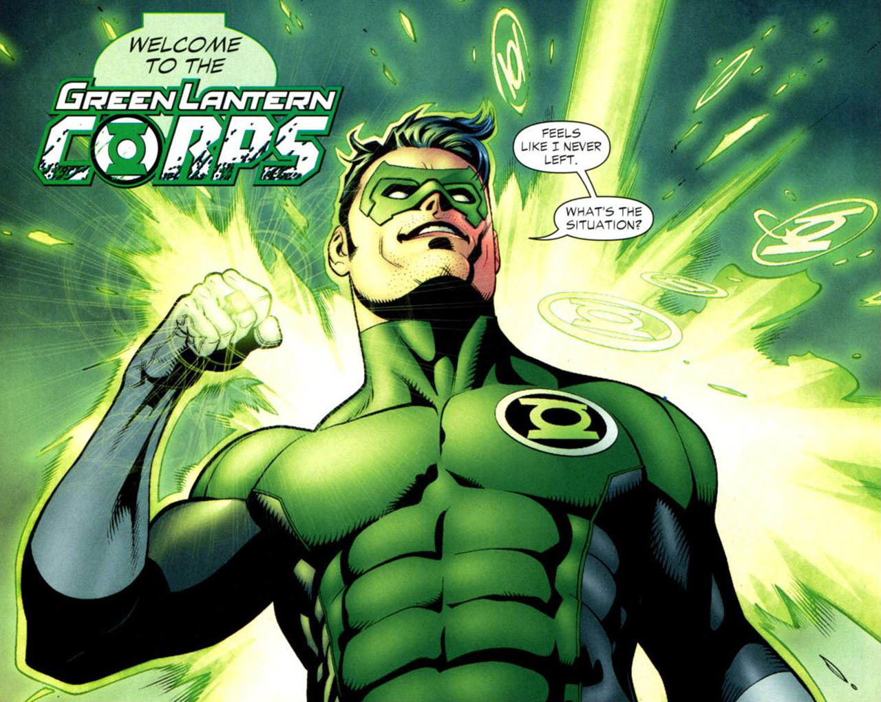 green lantern dc comics superheroes HD Wallpaper of Cartoon ...