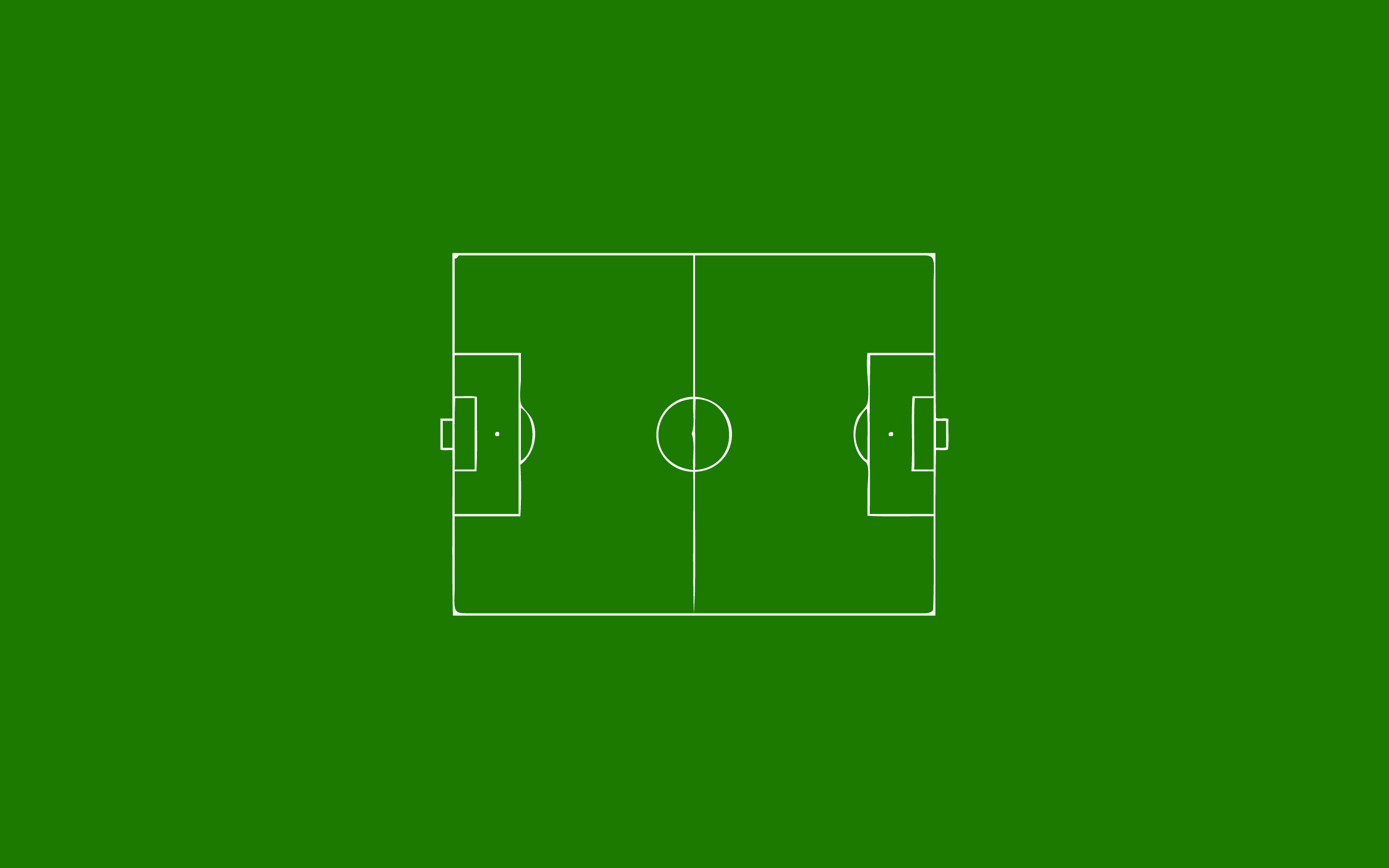 Green minimalistic Football field HD Wallpaper