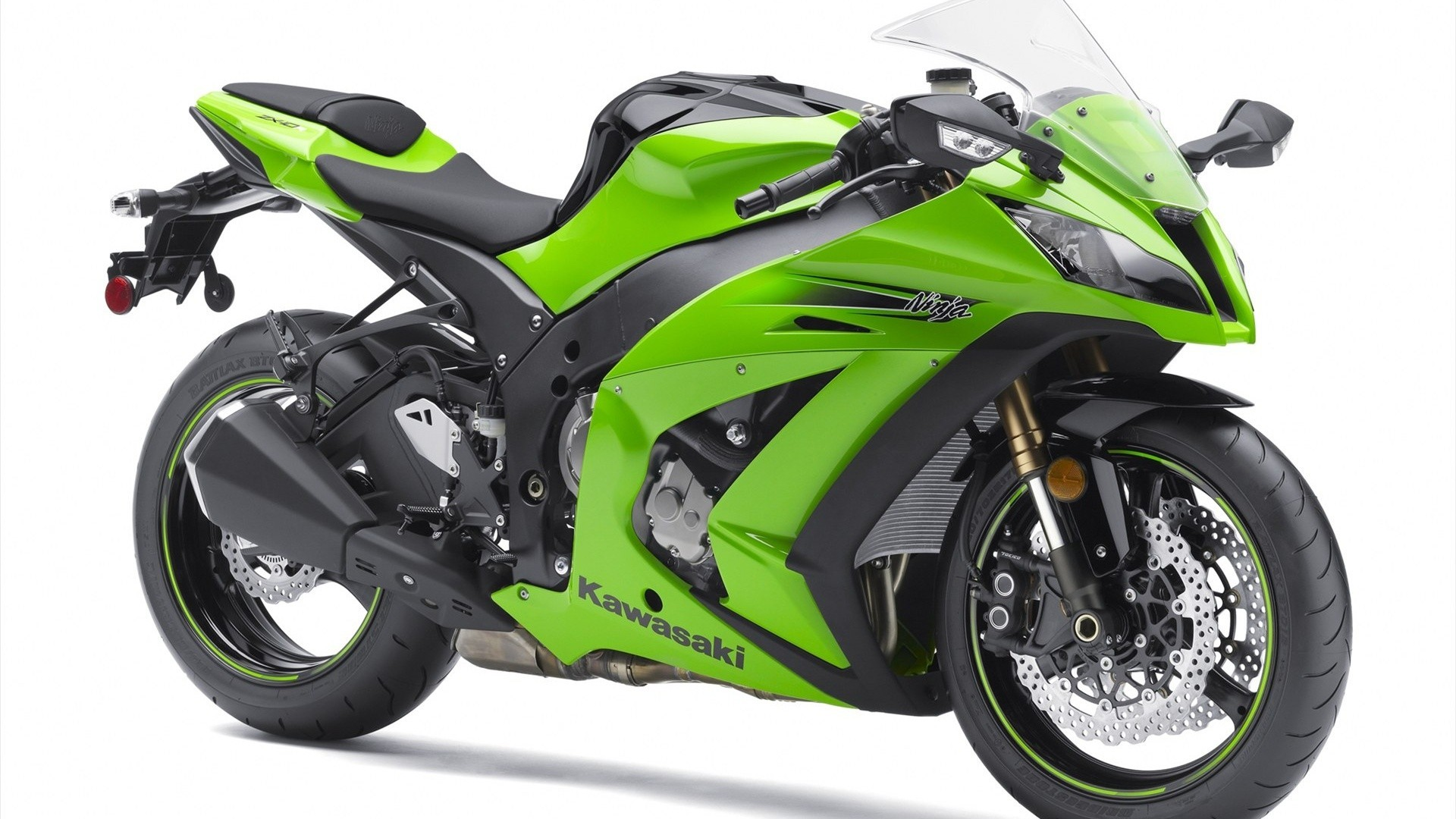 Green motorbikes kawasaki ninja HD Wallpaper