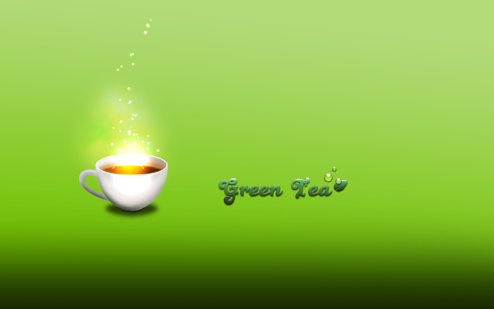 Green Relax minimalistic tea HD Wallpaper