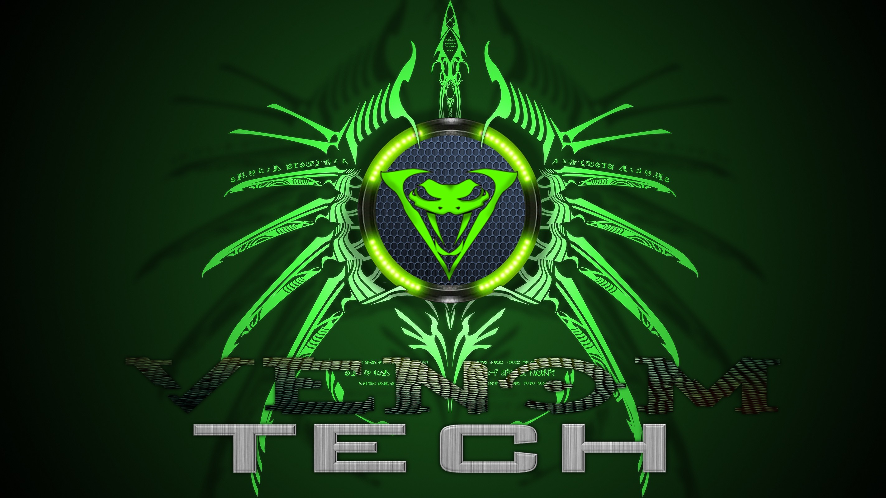 Green snakes Technology Venom HD Wallpaper
