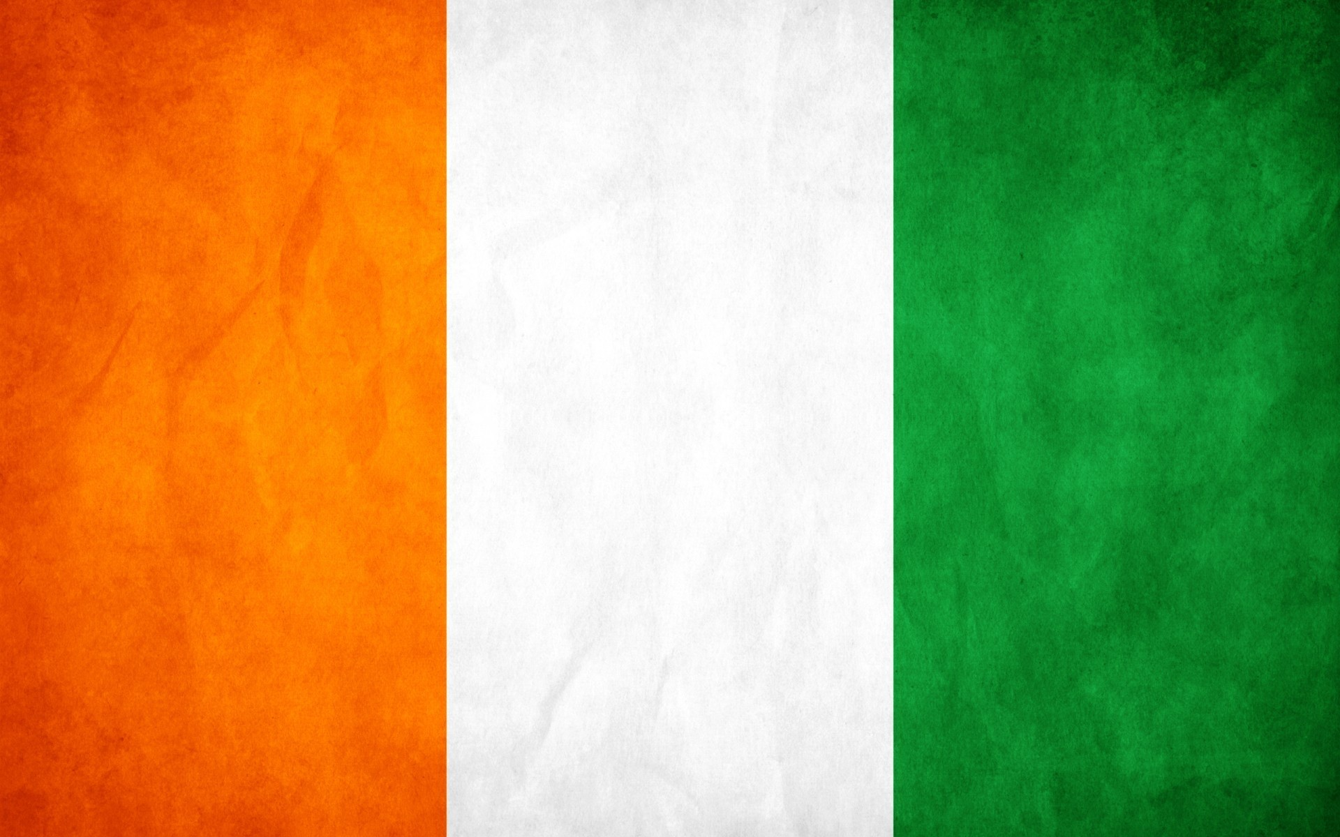 Green white orange Flags HD Wallpaper
