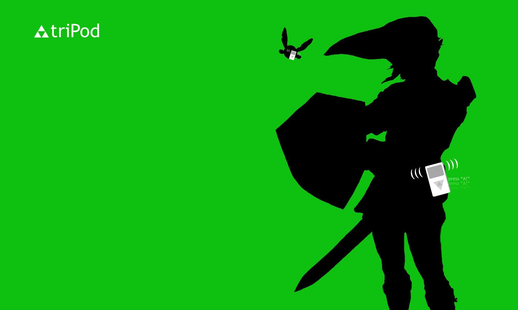 Green woman link silhouettes HD Wallpaper
