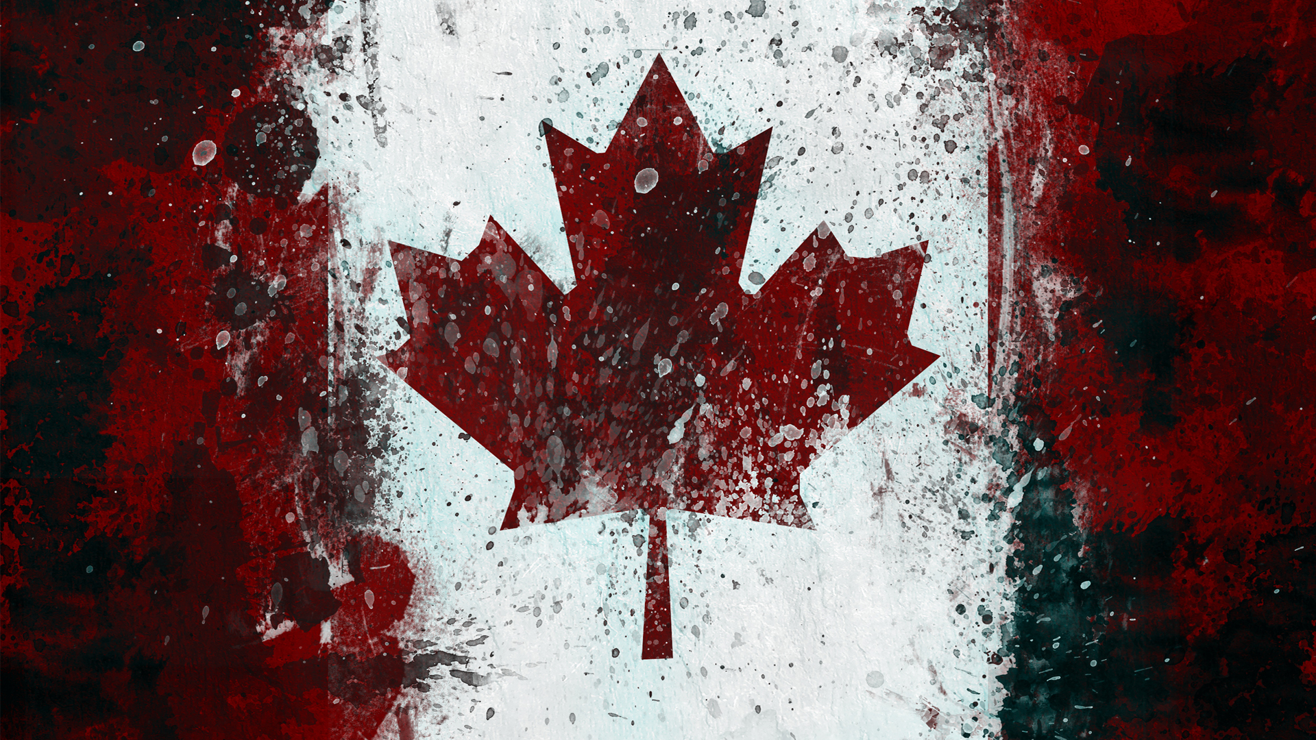 grunge Canada Flags Canadian HD Wallpaper