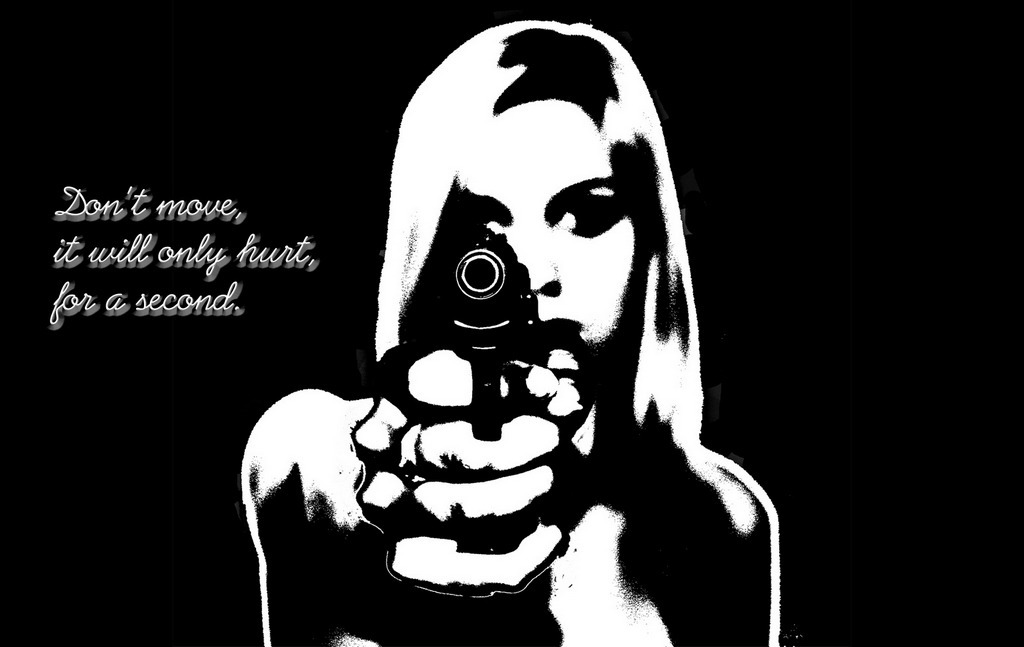 gun girl ll just HD Wallpaper