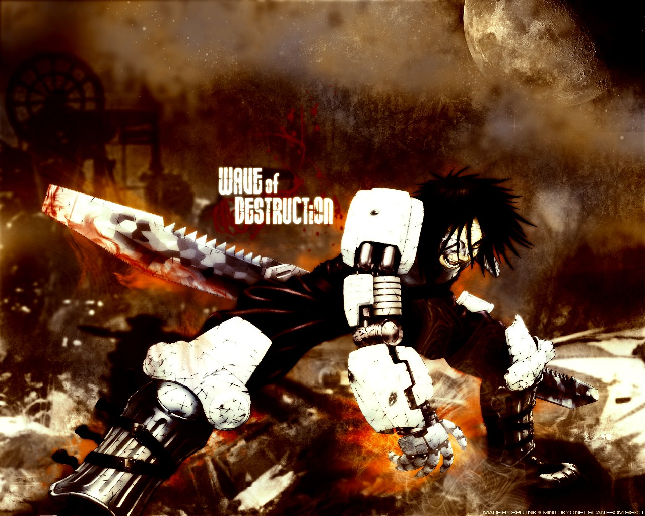 Gunnm cyborgs blade Battle HD Wallpaper