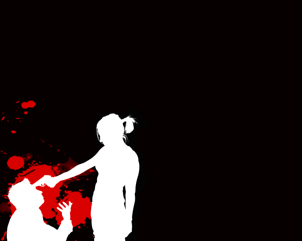 Guns blood silhouette couple HD Wallpaper