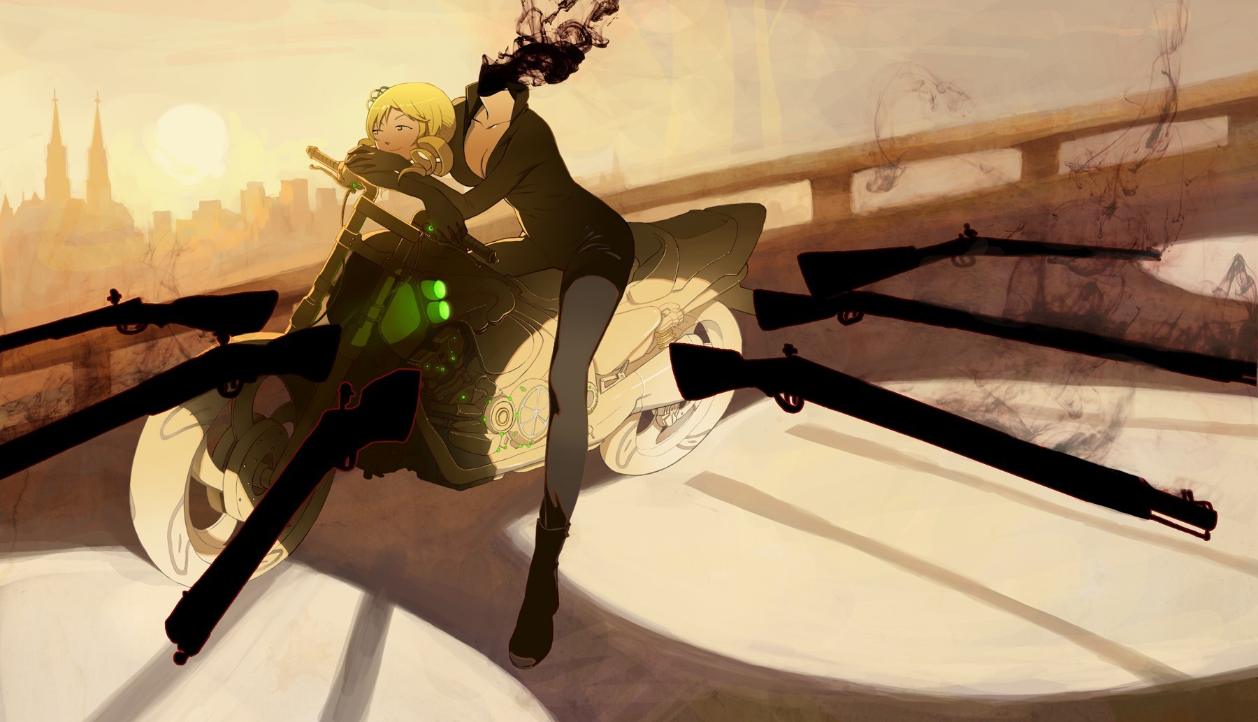 Guns durarara mahou shoujo HD Wallpaper