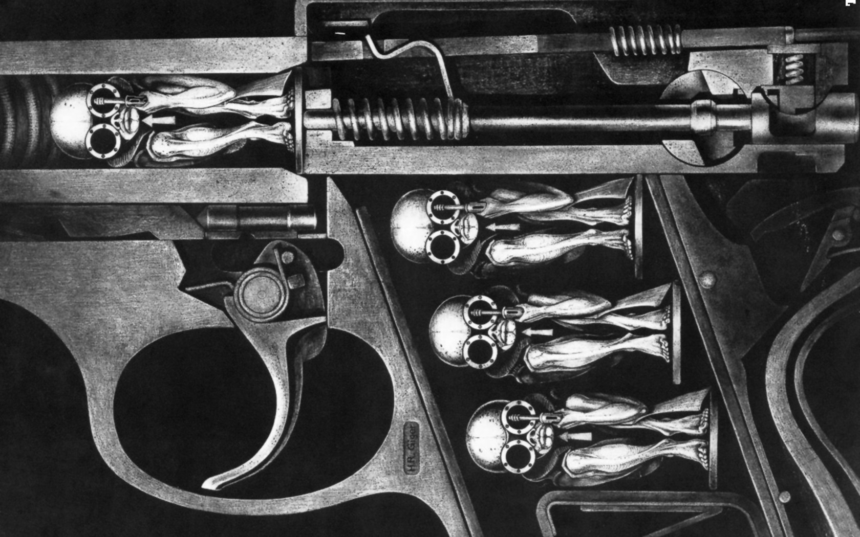 Guns hr giger Machines HD Wallpaper