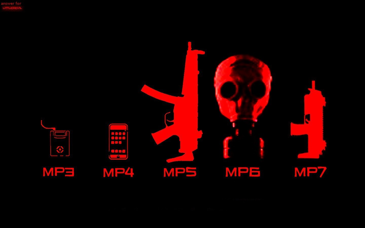 Guns ipod gas masks HD Wallpaper