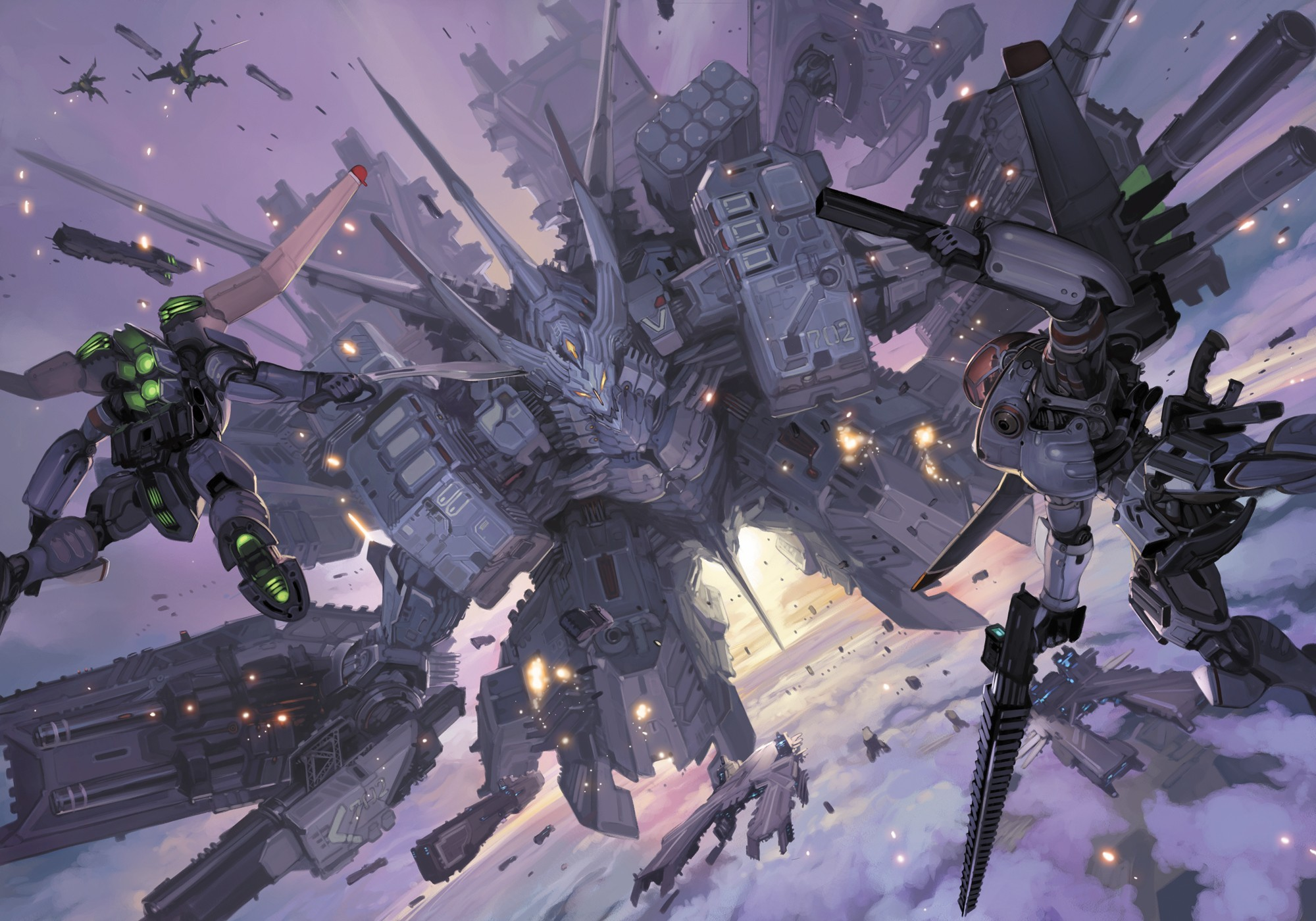 Guns robot mecha HD Wallpaper
