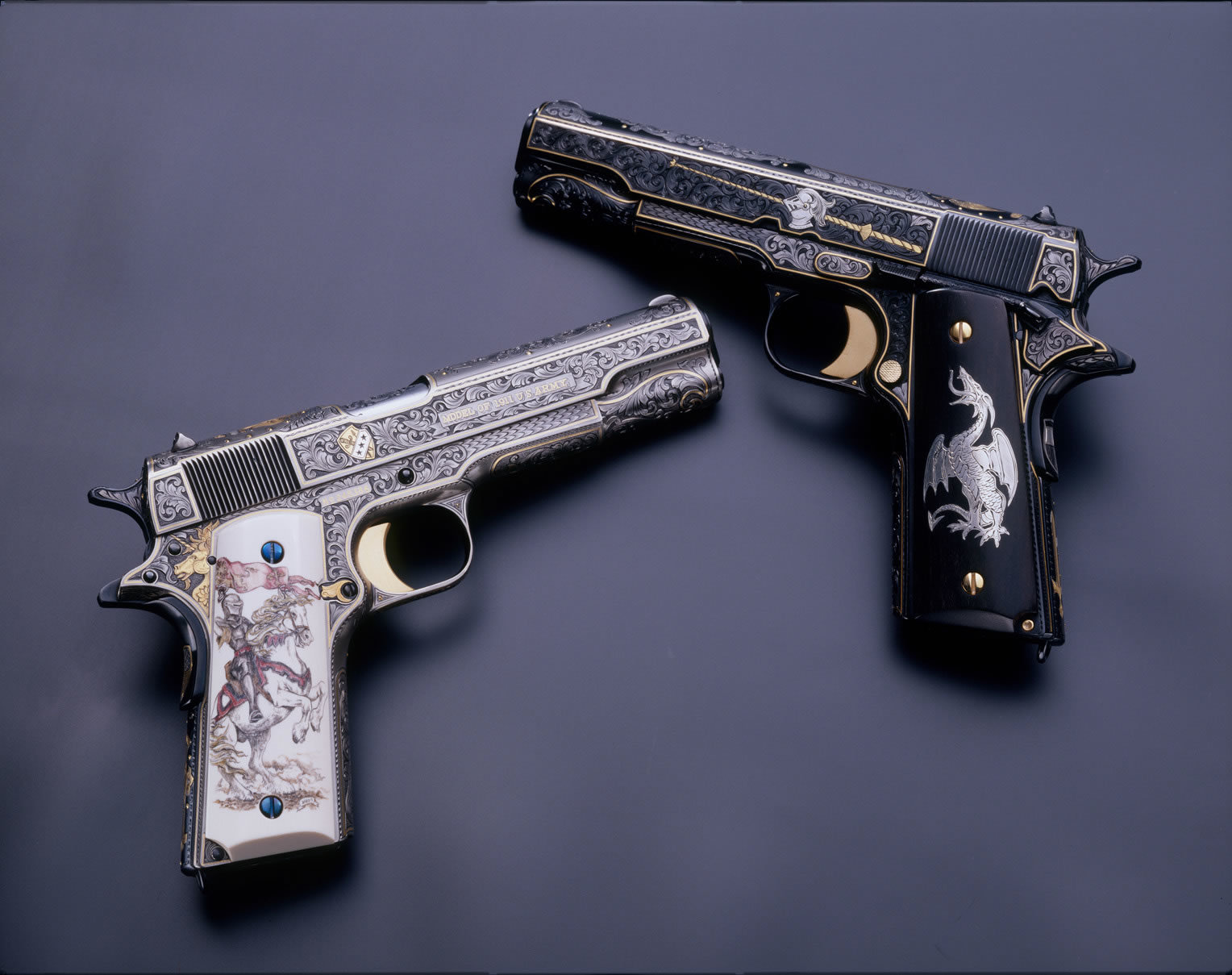 Guns weapons M1911 .45ACP HD Wallpaper