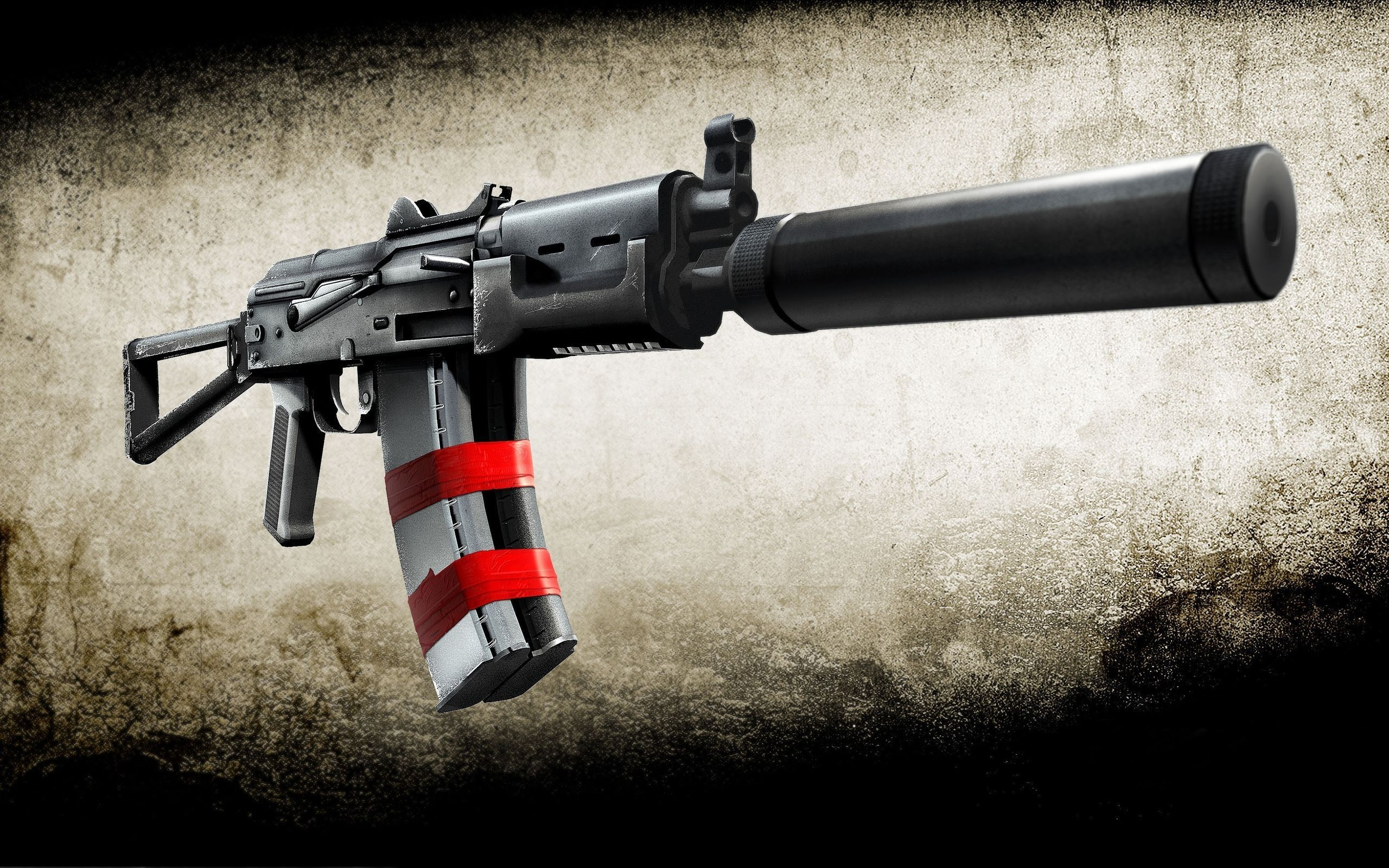 Guns weapons silencer ak-74 HD Wallpaper