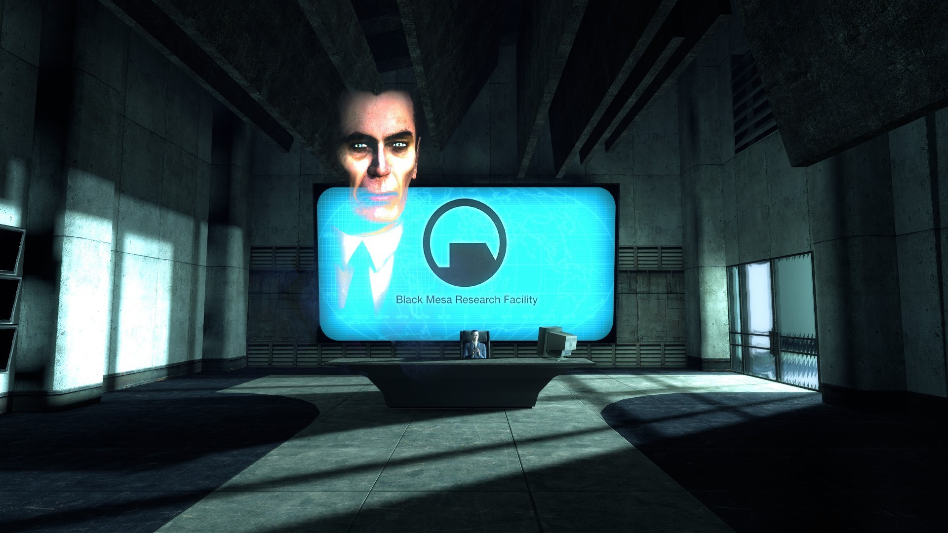 half-life black mesa G-man HD Wallpaper