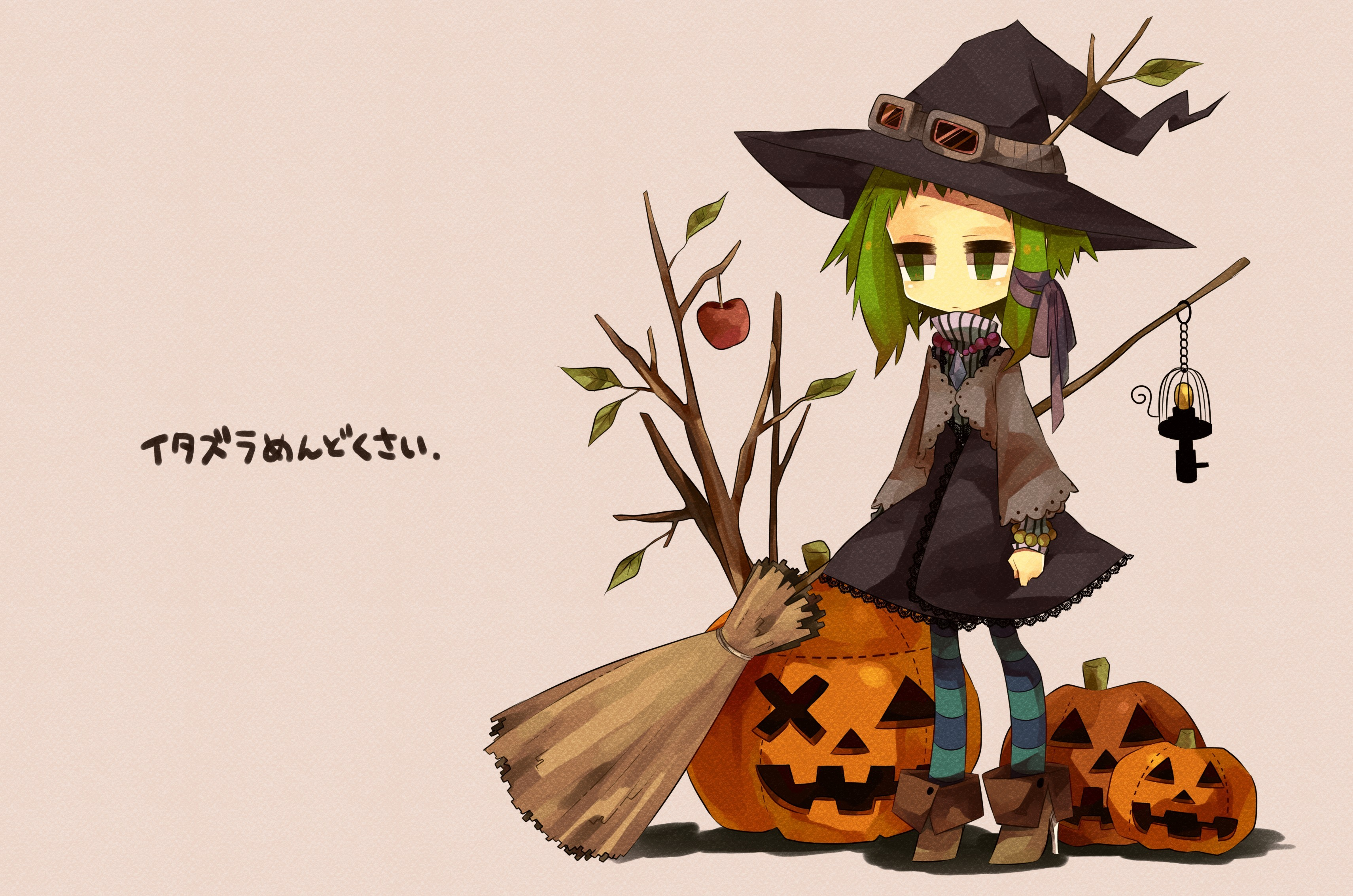 Halloween anime girls vocaloid Simple Background HD Wallpaper