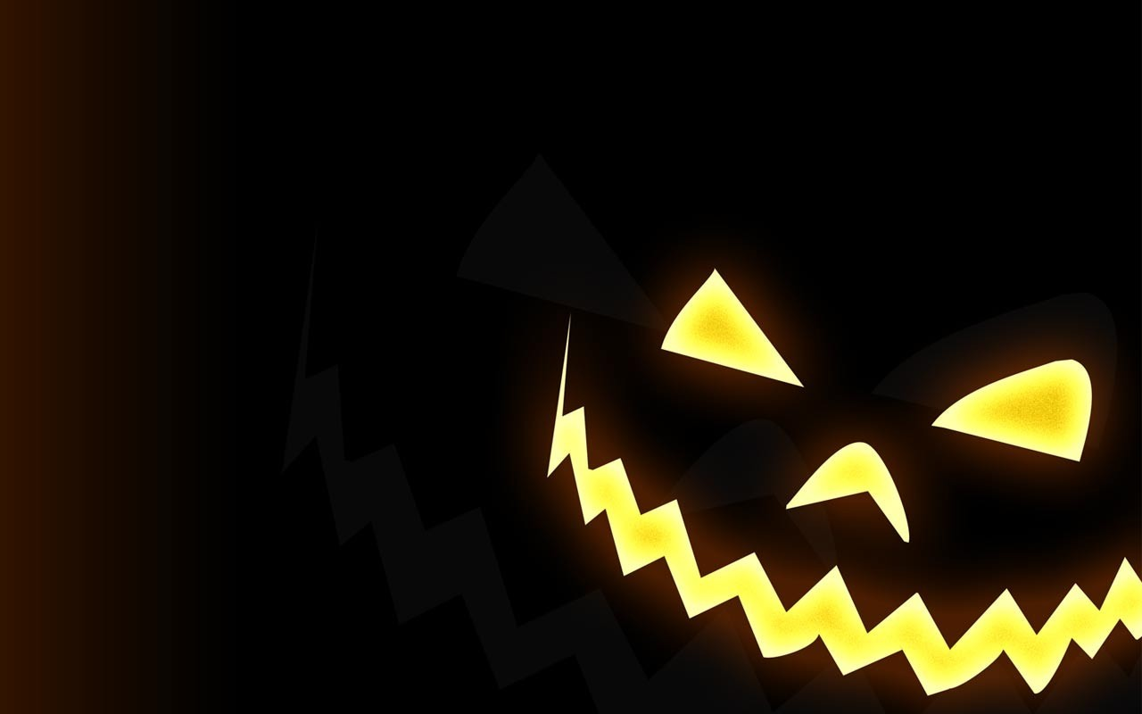 Halloween faces pumpkins HD Wallpaper
