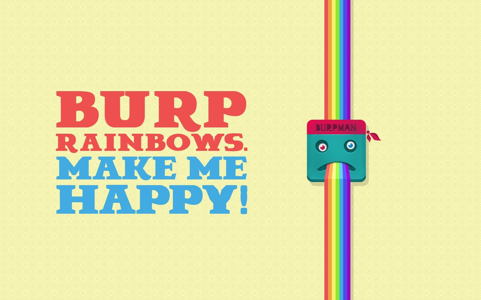 happy vectors crazy rainbows HD Wallpaper