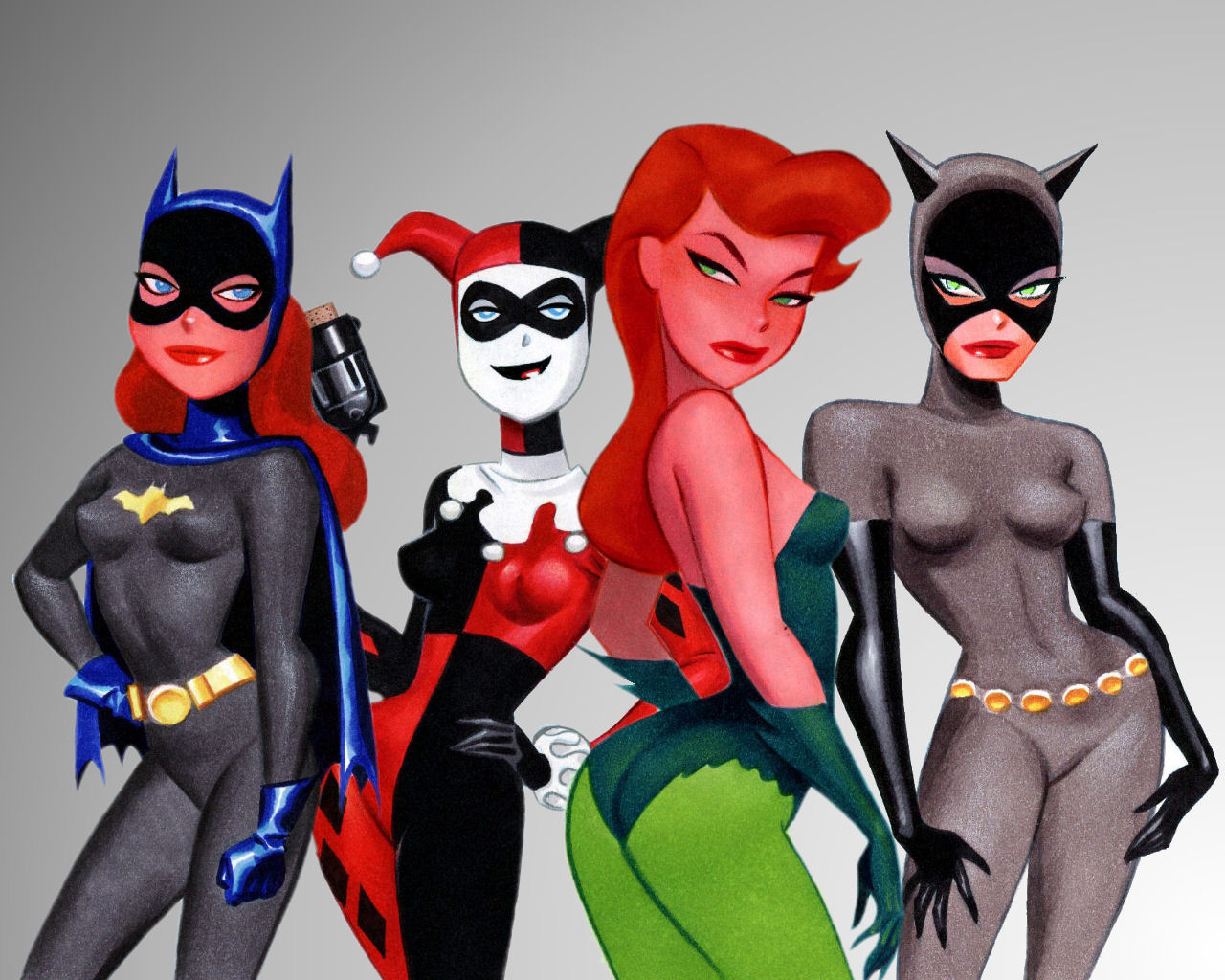 harley quinn Catwoman Poison HD Wallpaper