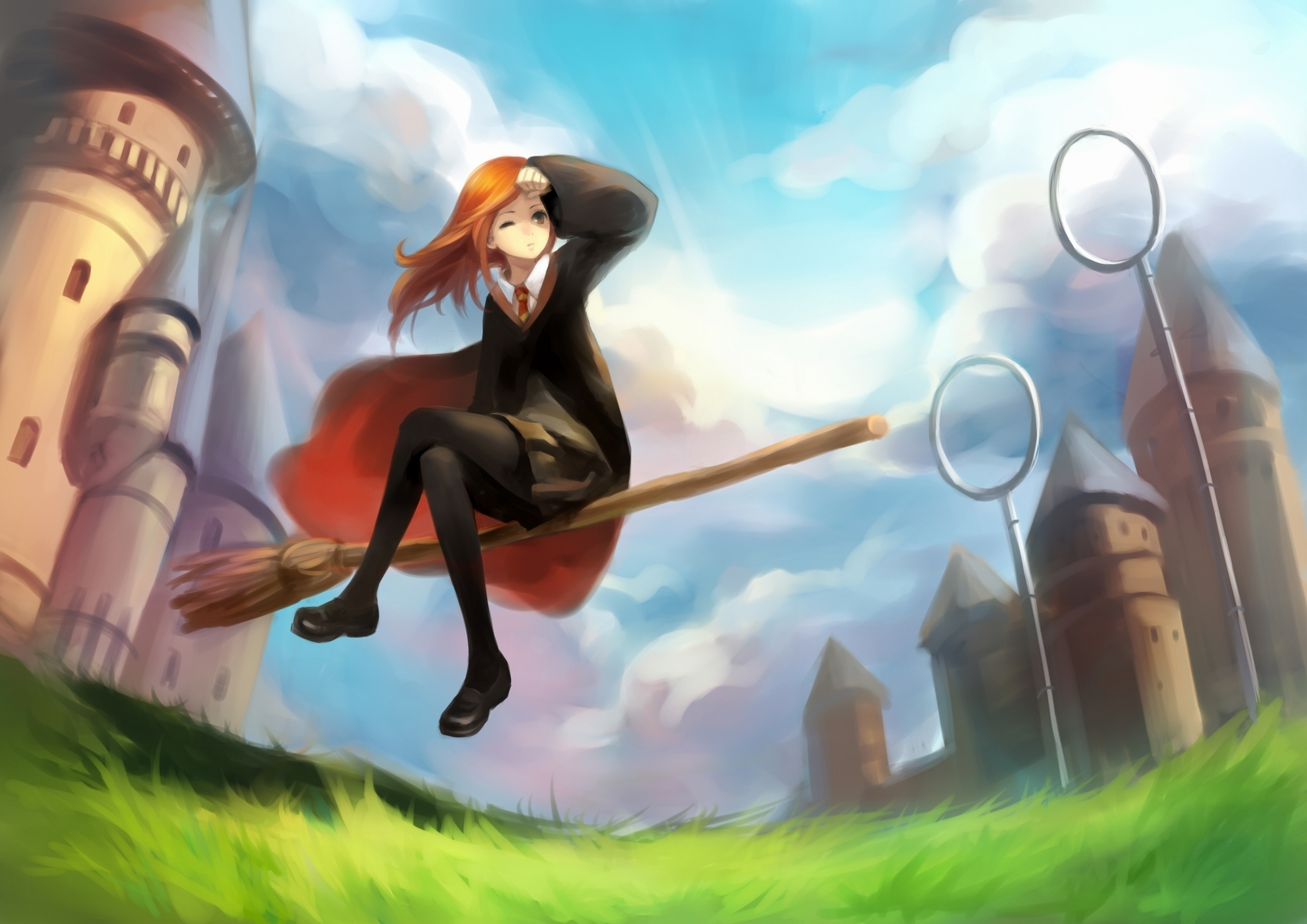 harry potter Quidditch soft HD Wallpaper