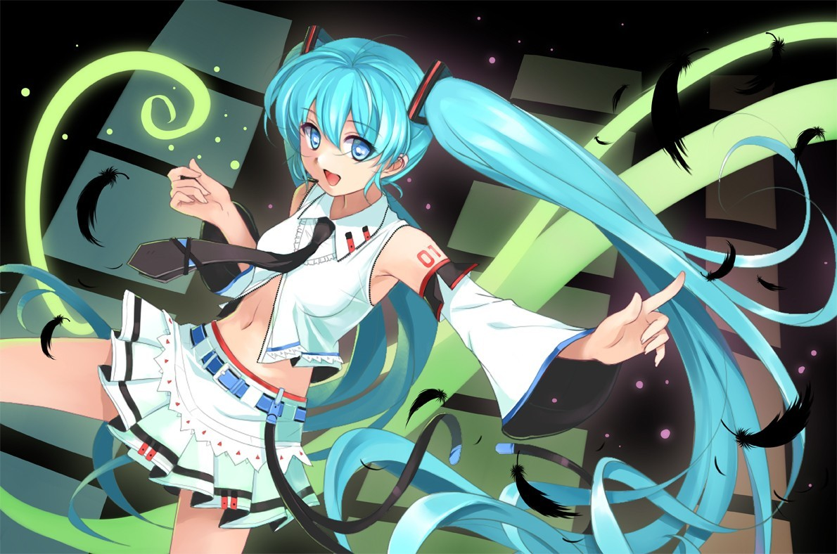 hatsune miku vocaloid detached sleeves HD Wallpaper