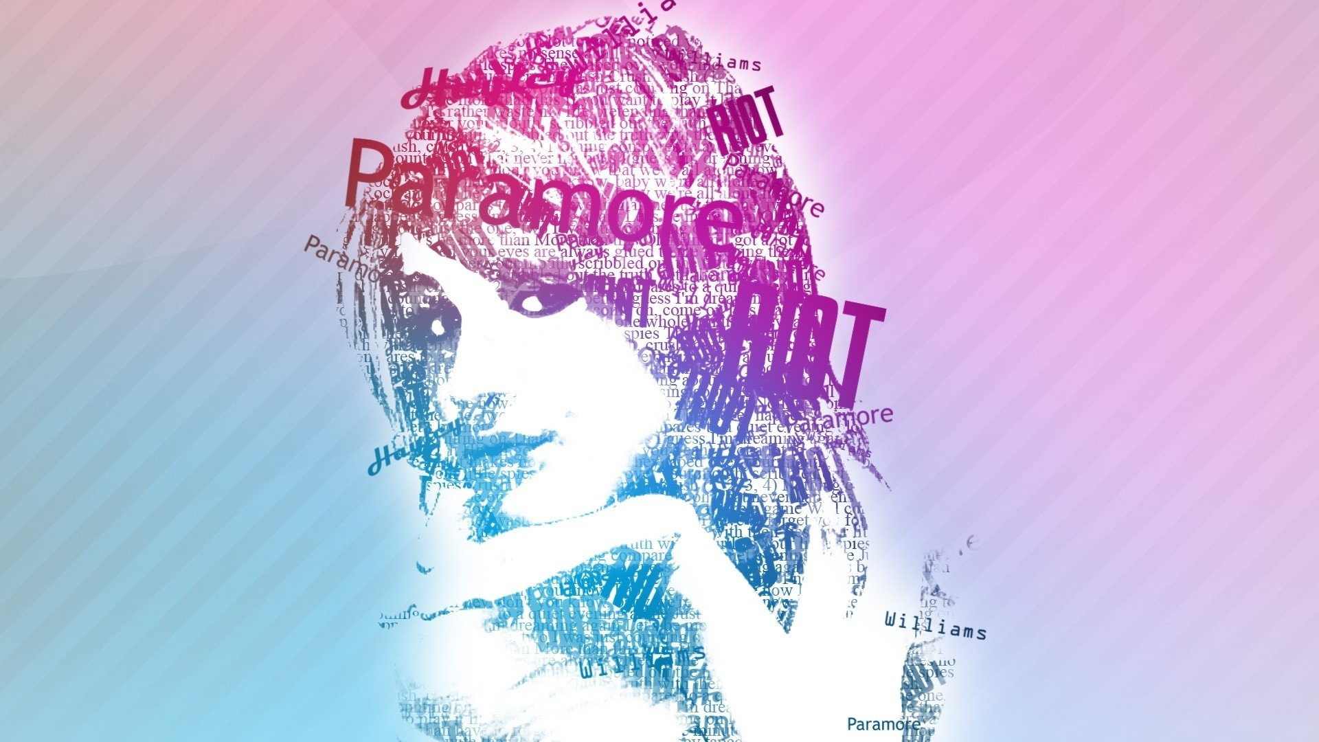 hayley williams Typography HD Wallpaper