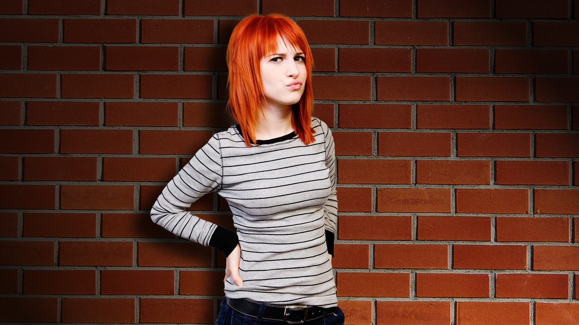 hayley williams woman redheads HD Wallpaper